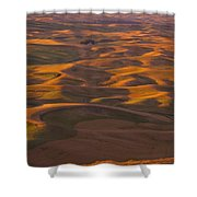 Hilly Landscape Shower Curtain