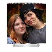 Him 'n Her - Young Lovers Shower Curtain
