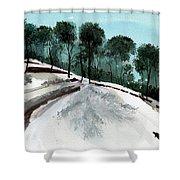 Himalaya 2 Shower Curtain by Anil Nene