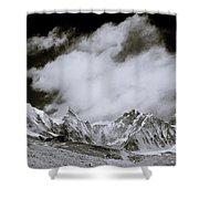 Himalayan Mountain Range Shower Curtain