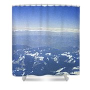 Himalayas Blue Shower Curtain