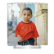 A Brahmin Boy Shower Curtain