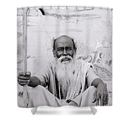 Hindu Holyman In Benares Shower Curtain