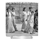Hindu Pilgrims In Madurai Shower Curtain