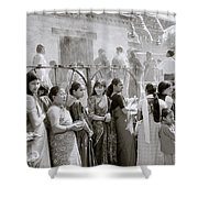 Hindu Pilgrims Shower Curtain