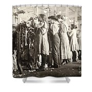 Hine: Child Labor, 1910 Shower Curtain