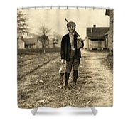 Hine: Hunter, 1908 Shower Curtain