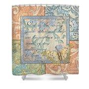 Hint Of Spring Butterfly 1 Shower Curtain by Debbie DeWitt