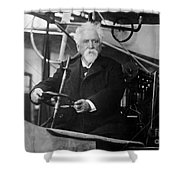 Hiram Maxim, American-anglo Inventor Shower Curtain