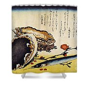Hiroshige: Color Print Shower Curtain