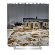 Historic Farm After Snowfall Otago New Shower Curtain by Colin Monteath
