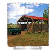 Historic Fruita District Barn Shower Curtain