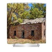 Historic Ruined Brick Building In Rural Farming Community - Utah Shower Curtain