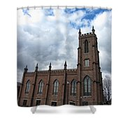 Historical 1st Presbyterian Church - Gates Avenue Se Huntsville Alabama Usa - Circa 1818 Shower Curtain