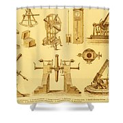 Historical Astronomy Instruments Shower Curtain
