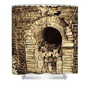 Historical Brick Kiln Oven Opening Decatur Alabama Usa Shower Curtain