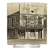 History Lesson Sepia Shower Curtain