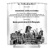 History Of Photography, 1847 Shower Curtain