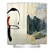 Hits And Mrs Or Kami Hito E 1  Shower Curtain