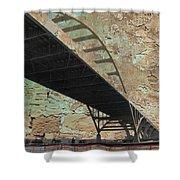 Hoan Bridge And Brick Shower Curtain
