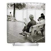 Hoan Kiem Lake Shower Curtain