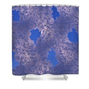 Hoar Frost On Fence Shower Curtain