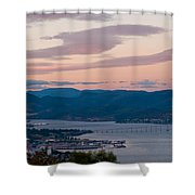 Hobart Harbour During Sunset Shower Curtain