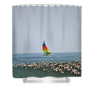 Hobie Cat Shower Curtain