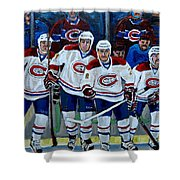 Hockey Art At Bell Center Montreal Shower Curtain