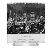 Hogarth: Election Shower Curtain