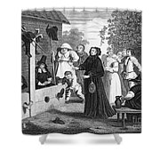 Hogarth: Hudibras, 1726 Shower Curtain by Granger