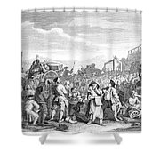 Hogarth: Industry, 1751 Shower Curtain
