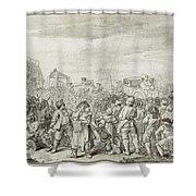 Hogarth: Industry, C1751 Shower Curtain