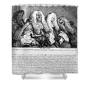 Hogarth: Judges, 1758 Shower Curtain