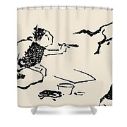 Hokusai: Horse, C1814 Shower Curtain