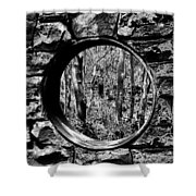 Hole In The Wall Shower Curtain