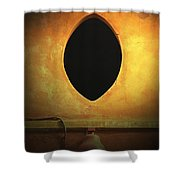 Hole In The Wall With Lamp Shower Curtain