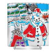 Holiday Dip Shower Curtain