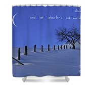 Holiday Greetings Shower Curtain
