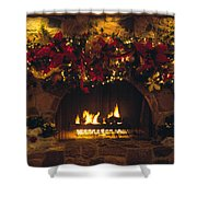 Holiday Hearth Shower Curtain