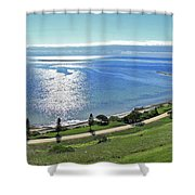 Holiday Horizon Shower Curtain
