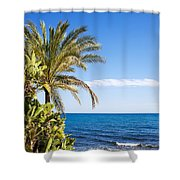 Holidays By The Sea Shower Curtain