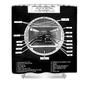 Holland Tunnel Section View Shower Curtain