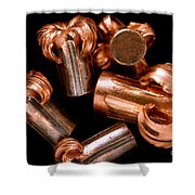 Hollow Point Bullets Shower Curtain