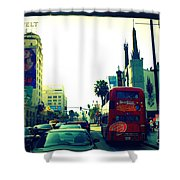 Hollywood Boulevard In La Shower Curtain
