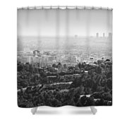 Hollywood From Above Shower Curtain