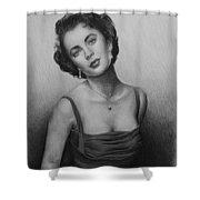 hollywood greats Elizabeth Taylor Shower Curtain