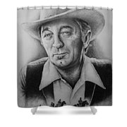 Hollywood Greats -robert Mitchum Shower Curtain