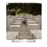 Holocaust Memorial - Berlin Shower Curtain