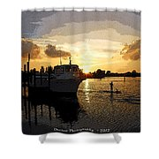 Home Before The Night  Shower Curtain